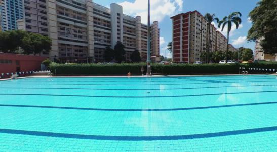 Ang Mo Kio Swimming Complex in Singapore.