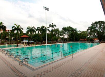 Clementi Swimming Complex in Singapore.